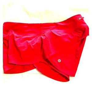 Red HOT Lululemon Shorts